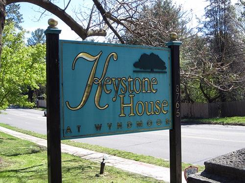 Entrance Sign for Keystone House a residential hospice