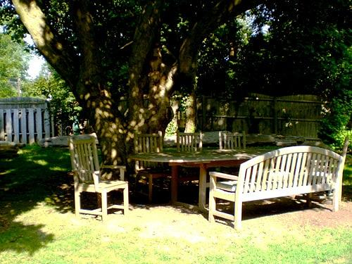 picnic area at our residential hospice