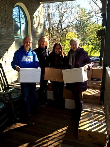 Thanksgiving food deliveries to patients