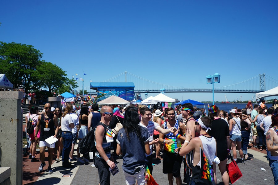 Crowd at Philly PrideDay Penns Landing