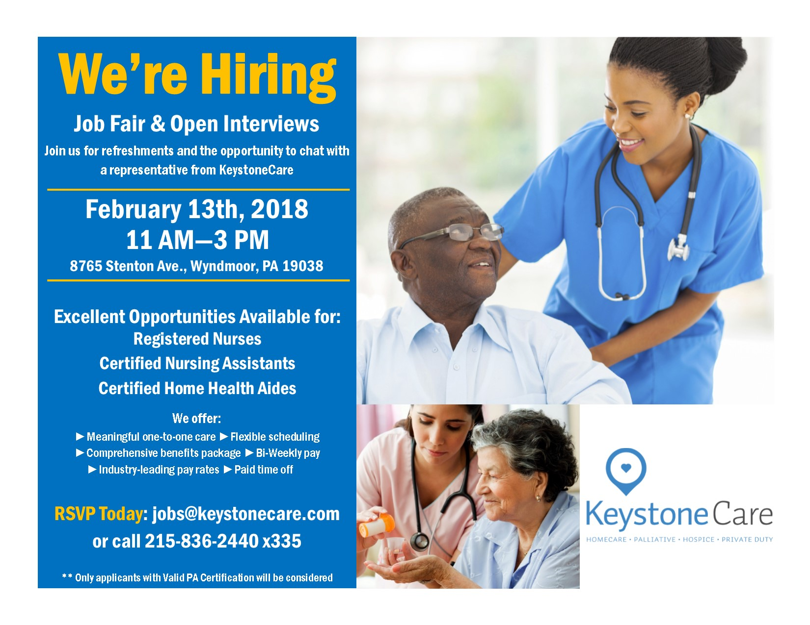 Jobs in home care services